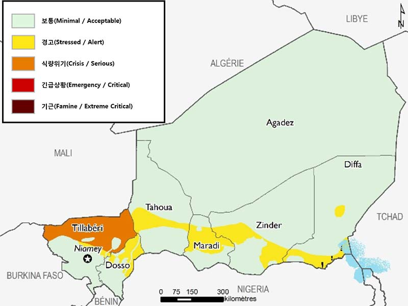 난민 및 분쟁 위기 속 상황 지도