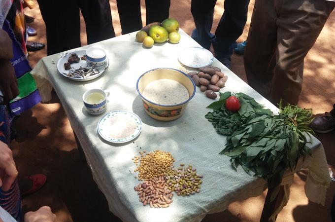 6대 영양소를 대표하는 식재료.