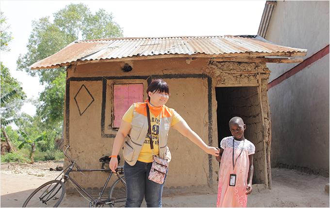 지난 2월, 월드비전을 통해 직접 만난 후원아동 소피아와 장지은 후원자