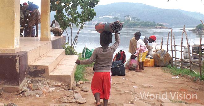 콩고민주공화국 난민캠프의 모습 (출처:월드비전)