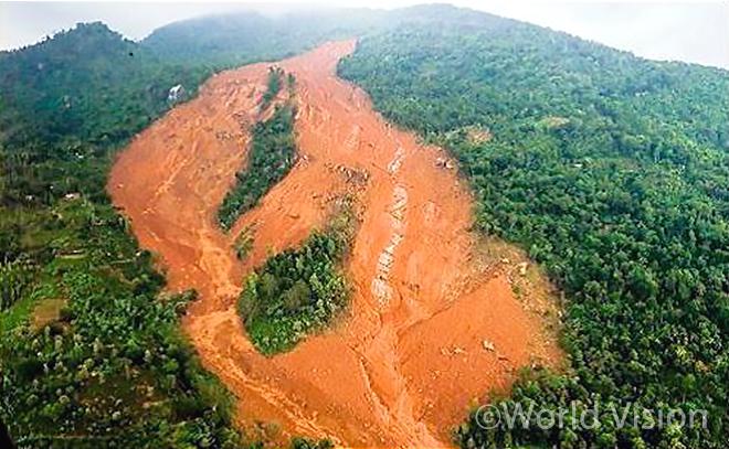 스리랑카 산사태 현장의 모습(사진출처:월드비전)