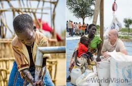월드비전은 2013년부터 남수단 난민캠프에 안전한 식수와 긴급 식량을 지원하고 있습니다. (사진출처: 월드비전)