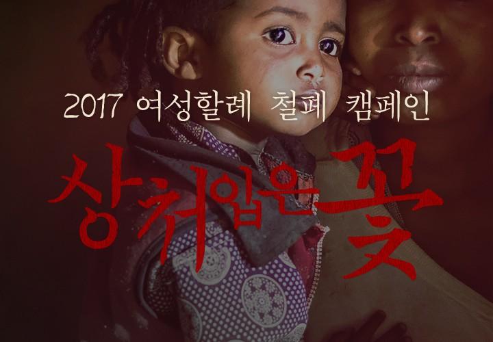 2017 여성할례 철폐 캠페인 상처입은 꽃