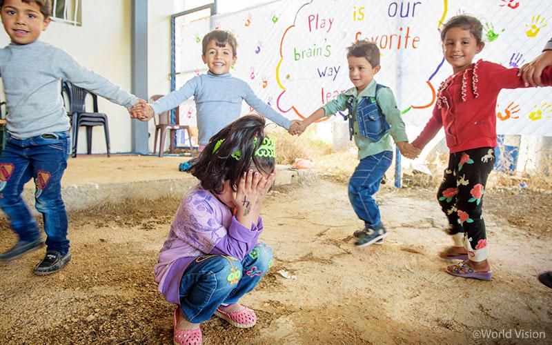 레바논 난민캠프 내 유니세프와 월드비전이 협력해 지원하는 아동심리보호센터. (사진출처: 월드비전)