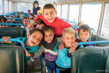 유아발달 교실에 참여한 시리아 난민 아동 (사진출처: 월드비전)