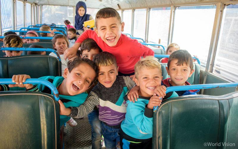유아발달 교실에 참여한 시리아 난민 아동, 사진출처: 월드비전