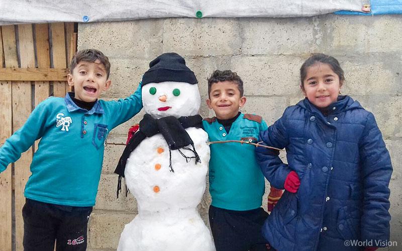 시리아 알레포 지역 아동, 사진출처: 월드비전