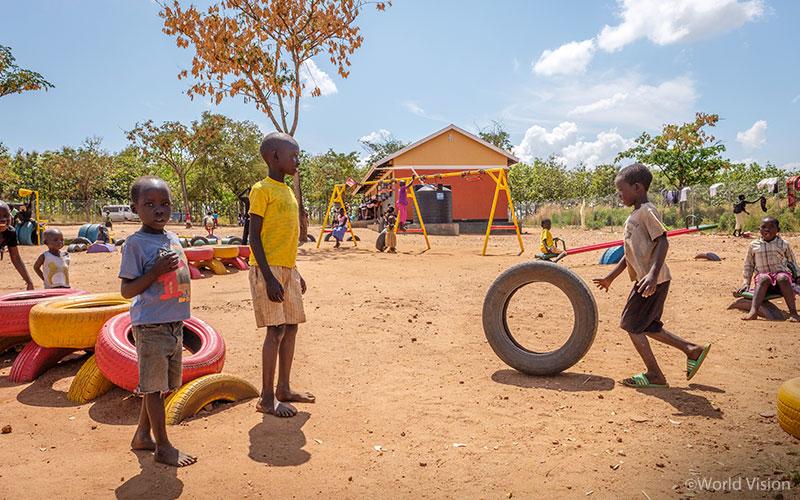 월드비전은 아이들이 신나게 뛰놀며 고통을 회복할 수 있도록 아동심리보호센터를 설립했다 (사진출처: 월드비전)