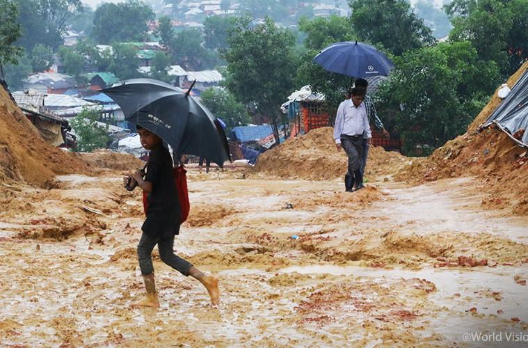 ▲ 6월부터 시작된 방글라데시의 장마 '몬순', 앞으로 두 달 동안 더 많은 비가 내릴 것으로 예상됩니다(출처: 월드비전)
