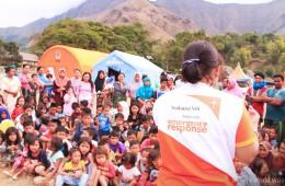 ▲ 슴발룬 범벙(Sembalun Bumbung) 마을 내 아동심리보호센터에서 아동 201명을 대상으로 놀이를 통한 심리치료 활동을 진행하였습니다(출처: 월드비전)