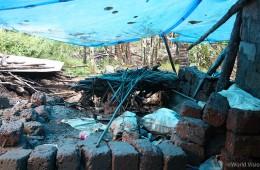 ▲ 홍수가 휩쓸고 지나간 케랄라(Kerala) 주 마을의 모습 (출처: 월드비전)