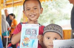 ▲ 친구들과 안전하게 뛰어 놀 수 있는 아동심리보호센터(CFS)에서 피해 아이들은 점차 미소를 되찾고 있습니다. (출처: 월드비전)