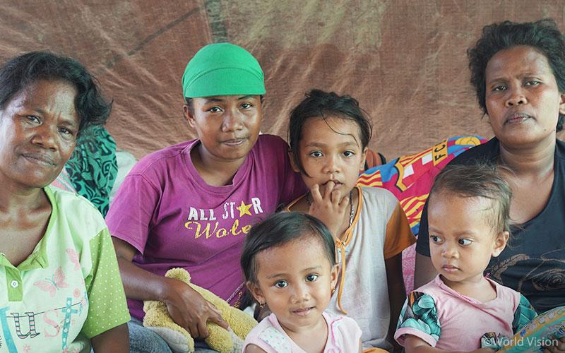 ▲ 월드비전이 활동하고 있는 4개 지역인 동갈라, 파루, 시기, 파리모에는 이번 지진과 쓰나미로 약 46만 명의 아동이 피해를 입었고 여전히 많은 지원이 필요합니다. (출처: 월드비전)