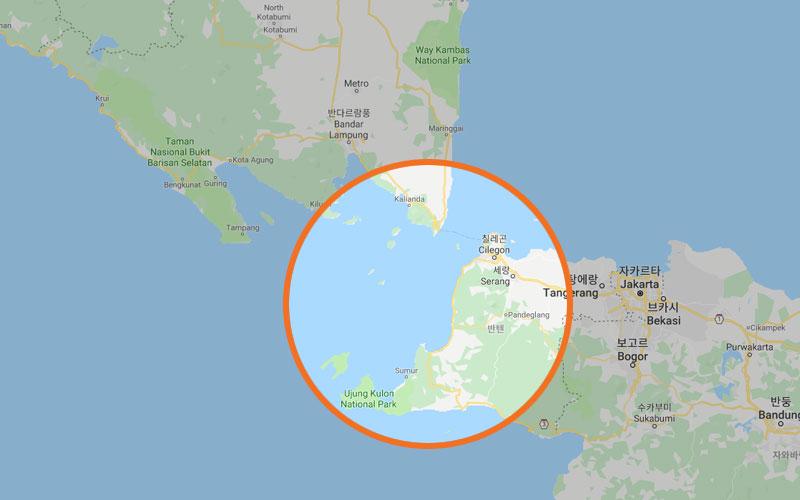 ▲ 이번 쓰나미 피해지역(람풍 주와 반텐 주)