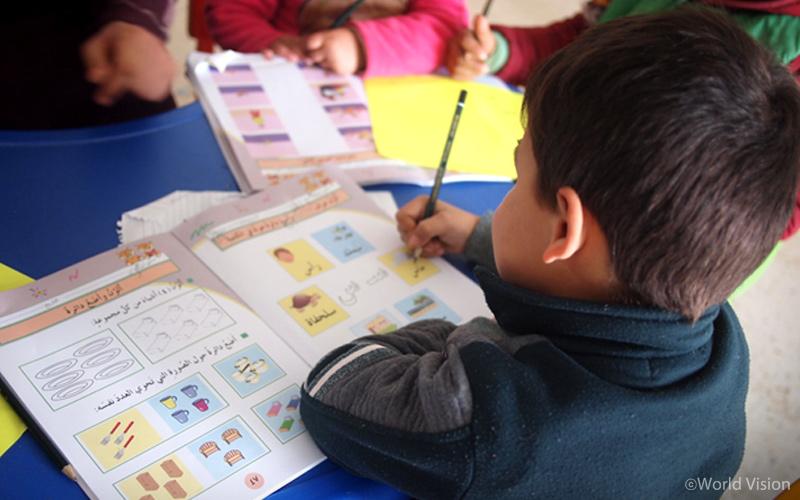 ▷ 요르단 난민 캠프 내 월드비전 유치원 아이들