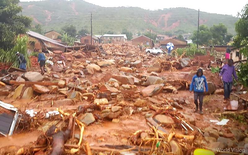 ▲ 홍수 피해로 폐허가 된 치매니마니(Chimanimani) 지역(짐바브웨) <사진 출처: 월드비전>