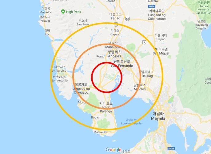 ▲필리핀 마닐라 지진 발생 지도(출처: 구글지도)
