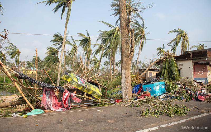 ▲ 사이클론 파니로 인한 인도 푸리(Puri) 지역 피해 상황 (사진 출처: 월드비전)