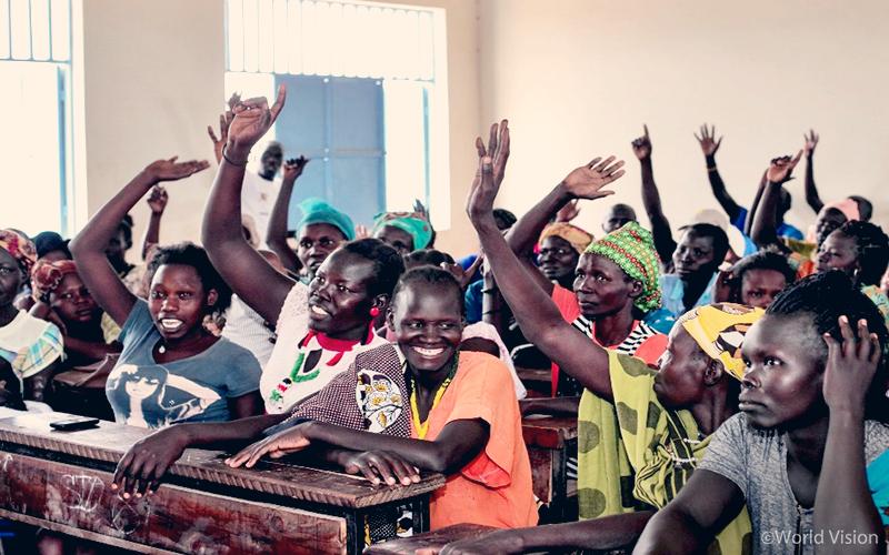 월드비전의 평화 인식 개선 포럼에 참석한 카쿠마 난민촌 주민들