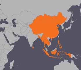 아시아 태평양 피해 지역