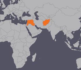 중동 피해 지역