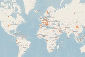 3월 18일 오전 기준 전세계 코로나19 확진자 현황