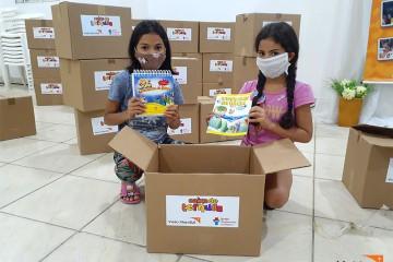 교육 자료를 제공받은 브라질 아동들