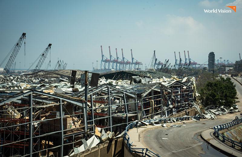 레바논 베이루트항의 처참한 사고현장 사진