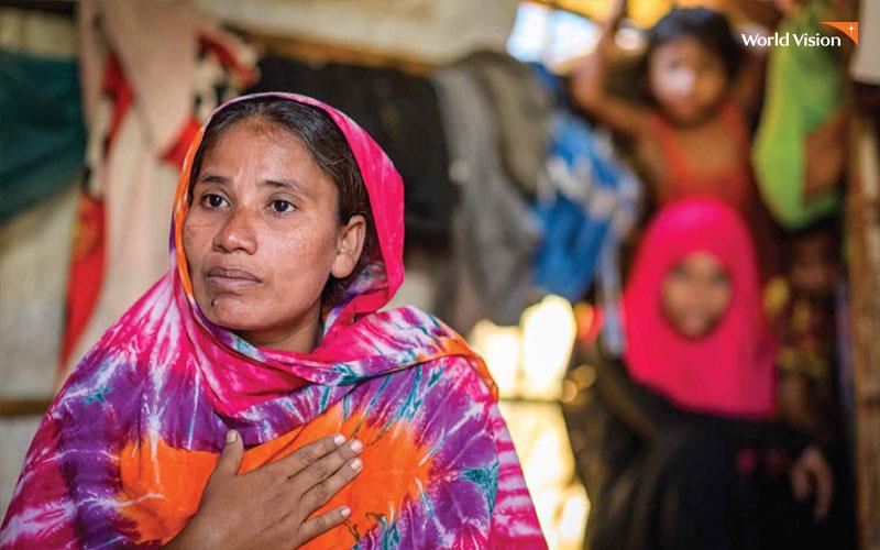 가정폭력을 호소하고 있는 여성. 사진