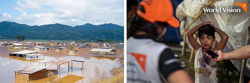 허리케인 에타, 이오타 중앙아메리카 피해 현장 사진