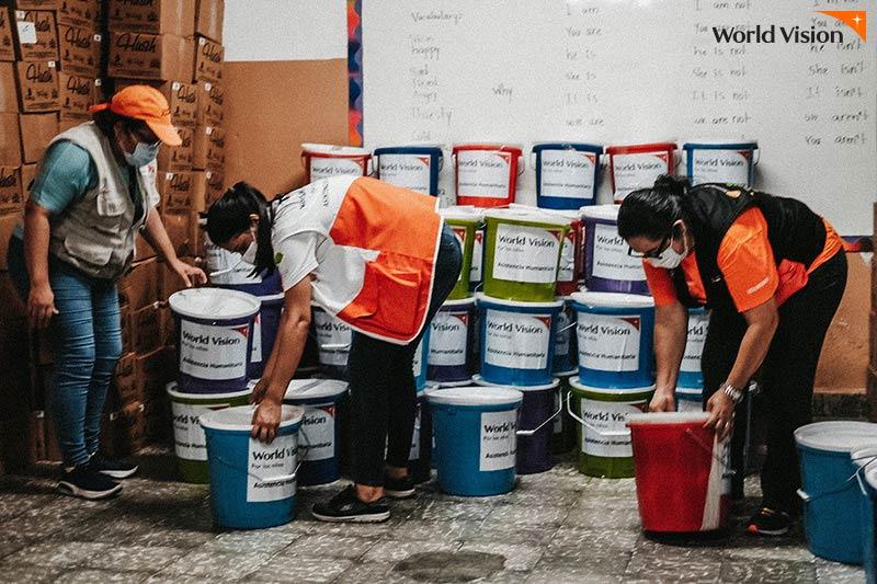 과테말라 월드비전 지원 활동 모습