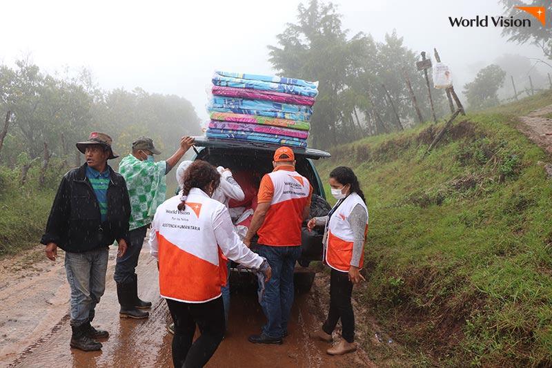 온두라스 월드비전 지원 활동 모습