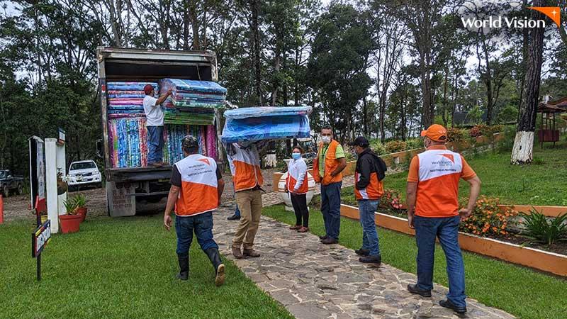 니카라과 월드비전 지원 현장 모습